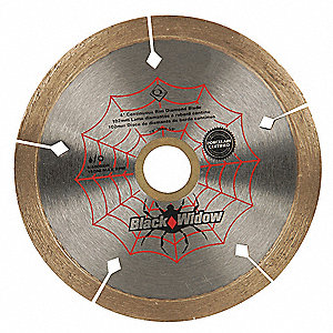 "4"" Wet/Dry Diamond Saw Blade, Continuous Rim Type"