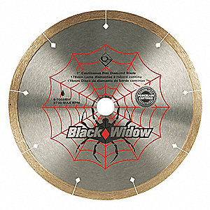 TILE SAW BLADE,WET,7 IN DIA,8730 RP