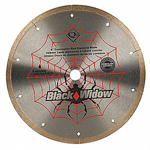 "8"" Wet Diamond Saw Blade, Continuous Rim Type"