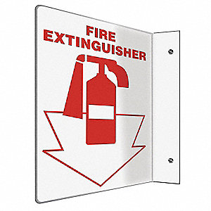 Fire Extinguisher Sign,12x9In.
