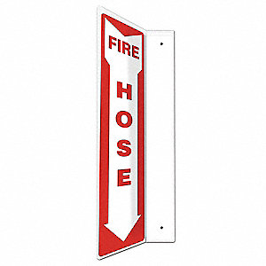 "Fire Equipment, No Header, Plastic, 18"" x 4"", With Mounting Holes, L-Shaped, Not Retroreflective"