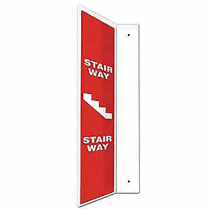 "L-Shape Projection Sign,24"" x 4"",Plastic"