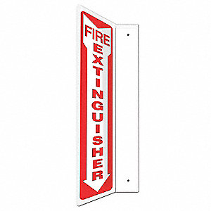 Projection Sign,Fire Extinguisher,12x4