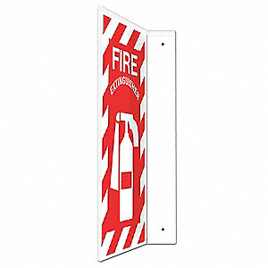 Fire Extinguisher Sign,24x12In.