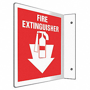 Fire Extinguisher Sign,8x8In.