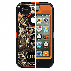 Defender Case,iPhone 4S,Orange/Max Camo