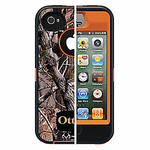 Defender Case,iPhone 4S,Orange/AP Camo
