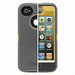 Defender Case,iPhone 4S,Yellow/Gray