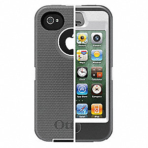 Defender Case,iPhone 4S,White/Gray