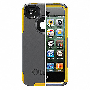 Commuter Case,iPhone 4S,Gray/Yellow