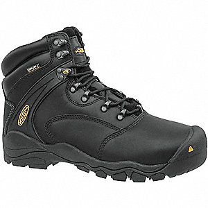 Work Boots,8-1/2,EE,6in,Black,6in,PR