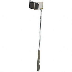 Square Telescoping Read Rite Inspection Mirror, 2-1/2 x 2-1/2 Mirror Size (In.), 28-1/2 Length (In.)