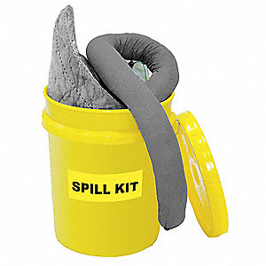 Spill Kit, Universal, Gray