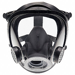 AV-3000 SureSeal Full Face Respirator, Respirator Connection Type: Quarter Turn Bayonet, 5 pt. with