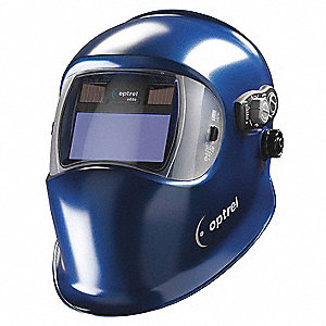 "e680 Series, Auto-Darkening Welding Helmet, 5 to 13 Lens Shade, 3.94"" x 1.97"" Viewing AreaBlue"