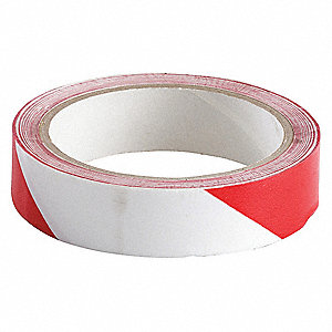 "Barricade Tape, Striped, Continuous Roll, 1"" Width, 1 EA"