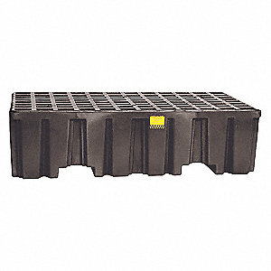 Spill Containment Pallets, Uncovered, 66 gal. Spill Capacity, 4000 lb.