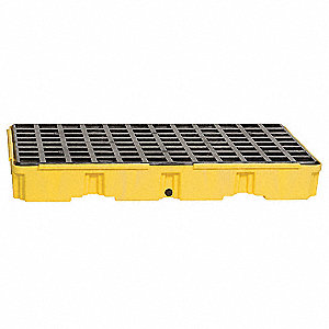 Spill Containment Platforms, Uncovered, 30 gal. Spill Capacity, 5000 lb.