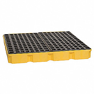 Spill Containment Platforms, Uncovered, 60-1/2 gal. Spill Capacity, 10,000 lb.