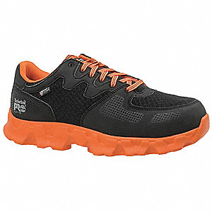 Athletic Work Shoes,10-1/2,W,Blk/Or,PR