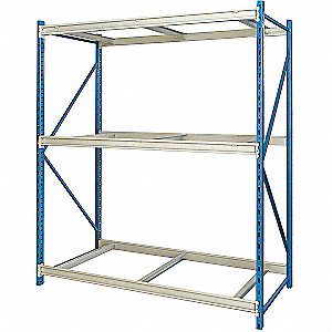 "Starter Bulk Storage Rack with None Decking and 3 Shelves, 48""W x 48""D x 123""H"