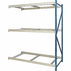 "Add-On Bulk Storage Rack with None Decking and 3 Shelves, 96""W x 36""D x 123""H"