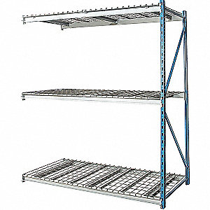 "Add-On Bulk Storage Rack with Steel Wire Decking and 3 Shelves, 48""W x 36""D x 87""H"
