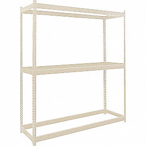 "Starter Boltless Shelving with None Decking, 3 Shelves, 72""W x 36""D x 84""H"