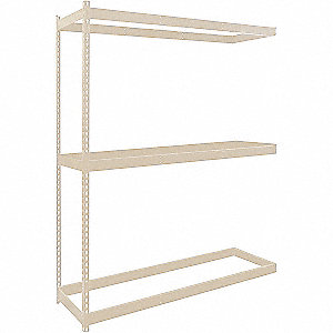 "Add-On Boltless Shelving with None Decking, 3 Shelves, 72""W x 36""D x 84""H"