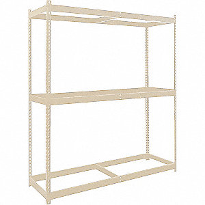 "Starter Boltless Shelving with None Decking, 3 Shelves, 72""W x 24""D x 84""H"