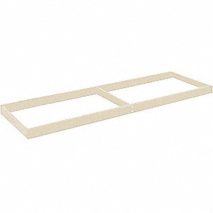 "Steel Shelf, Overall Width: 72"", Overall Depth: 48"", Overall Height: 2-3/4"", Tan"