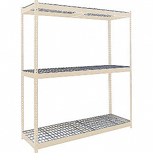 "Starter Boltless Shelving with Steel Wire Decking, 3 Shelves, 48""W x 48""D x 84""H"