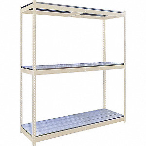 Boltless Shelving Starter Unit,650 lb.