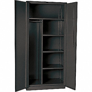 "Heavy Duty Storage Cabinet, Charcoal, 78"" H X 60"" W X 24"" D, Assembled"