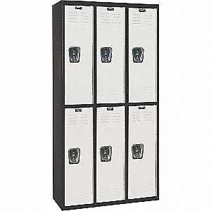 "Black Tie Locker, Assembled, Two Tier, 36"" Overall Width"