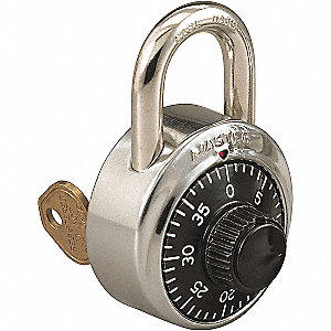 "Combination Padlock, 3/4"" Shackle Height"