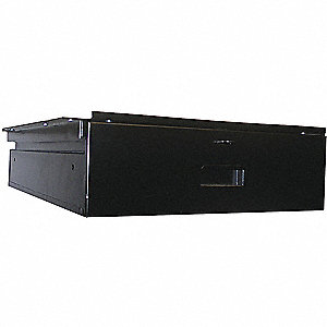 Drawer,18 in. W x 24 in. D x 6 in. H,Blk