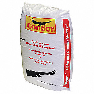 Montmorillonite Clay Loose Absorbent, Container Size: 25 lb., Fluids Absorbed: Oil, Coolants, Solven