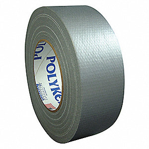 Industrial Duct Tape, 48mm X 55m, 12.00 mil Thick, Gray Coated Cloth, 24 PK