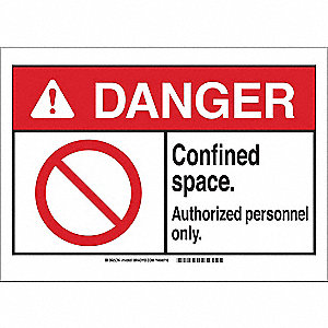 Danger Sign,Autho Pers Only,B-401,7in.H