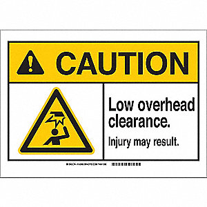 Caution Sign,14in.W,Alumn,Low Overhead