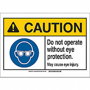 Caution Sign,10in.W,Fiberglass,Oper Eye