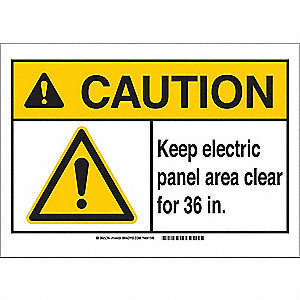 Caution Sign,10in.Hx7in.W,Electrical