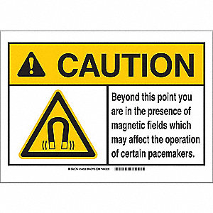 Caution Sign,7in.Hx10in.W,Beyond This