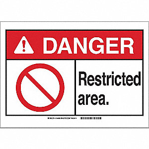 "Authorized Personnel and Restricted Access, Danger, Aluminum, 7"" x 10"", With Mounting Holes"