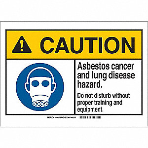 "Health Hazard, Caution, Plastic, 10"" x 14"", With Mounting Holes, Not Retroreflective"