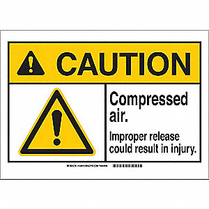 Caution Sign,14in.W,Aluminum,Compressed