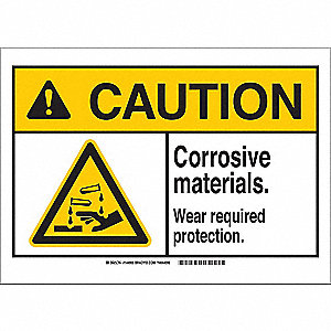 "Personal Protection, Caution, Polyester, 7"" x 10"", Not Retroreflective"