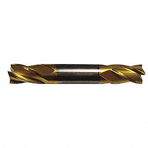 "Square End Mill, 5/32"" Milling Diameter, Number of Flutes: 4, 5/16"" Length of Cut, TiN, E5023"