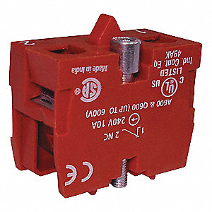 Contact Block, 22mm, 10A @ 600VAC/DC Contact Rating